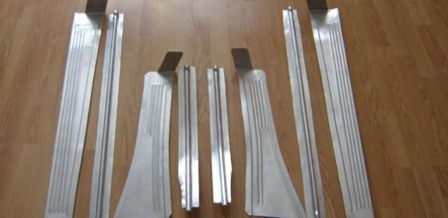 Для ПОБЕДЫ алюминиевые накладки на пороги
