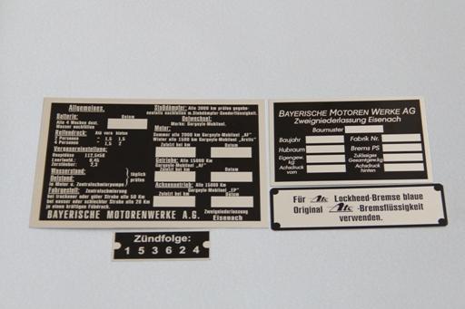 Комплект шильдов для BMW-321/326/320/327