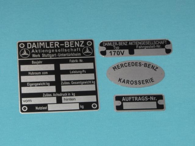 Шильды Mercedes-Benz 170 V