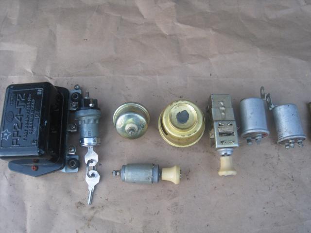 РР24-г2, замок зажигания, прикуриватель, термостат, переключатель света, реле поворотов