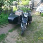Мотоцикл с коляской М-72-М